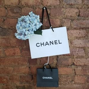 2 empty CHANEL gift bags